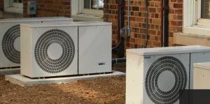 Paneles solares hacen funcionar el aire acondicionado red electrica
