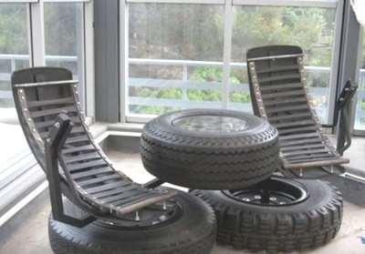 Reciclaje De Neumáticos o LLantas asientos