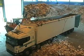 reciclaje del papel papelera