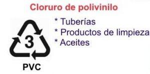símbolos de reciclaje del plástico botella de agua