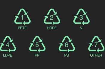 símbolos de reciclaje del plástico hdpe