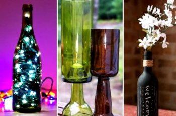 botellas de vidrio vasos