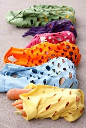como reciclar camisetas viejas bolsas