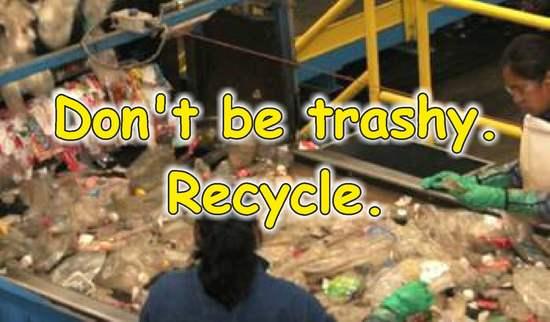 frases de reciclaje en ingles aluminio