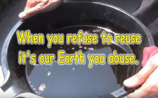 frases de reciclaje en ingles aceite