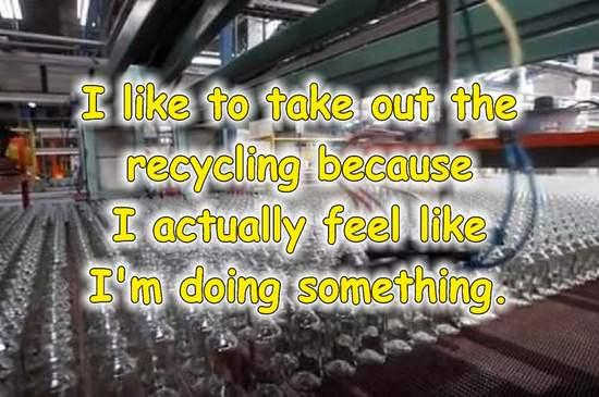 frases sobre reciclaje en ingles botellas