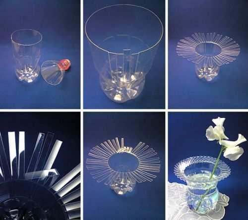 reciclar envases de plastico florero de plastico