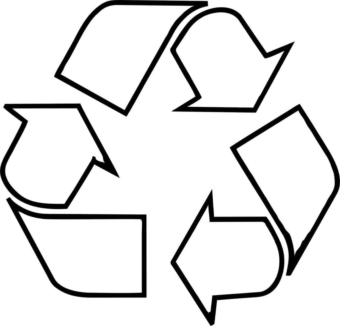 símbolo de reciclaje para colorear infantil