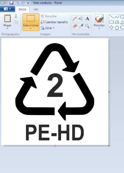 simbolo de reciclaje blanco como hacer