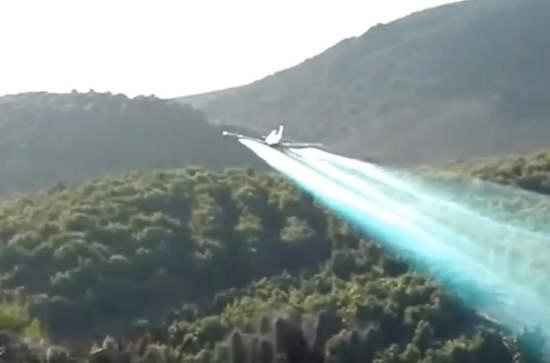 contaminación del suelo por fertilizantes con aviones