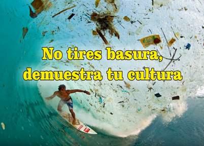 frases de contaminación ambiental basura