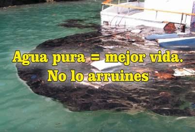 frases de contaminación ambiental rios