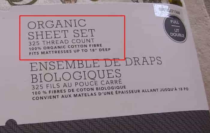 sabanas de algodón orgánico saludable