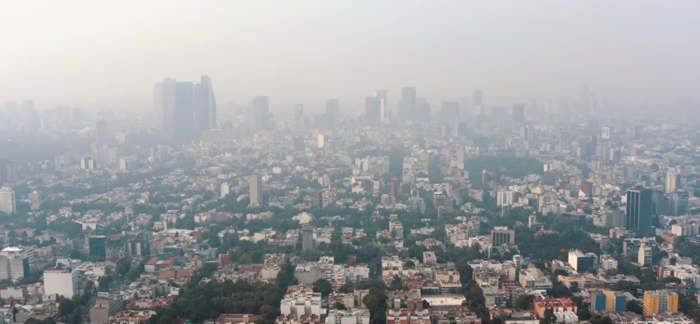 Pollution de l'air à Mexico temps