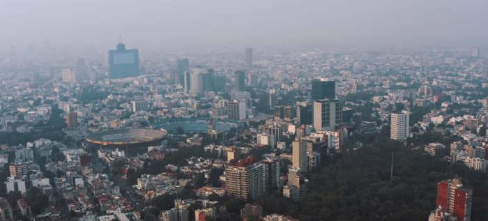 Pollution de l'air à Mexico qualite