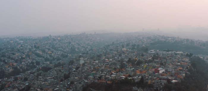 Pollution de l'air à Mexico zone métropolitaine